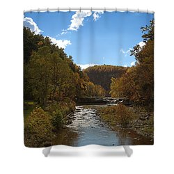 Shower Curtain featuring the photograph Taughannock Lower Falls Ithaca New York by Paul Ge