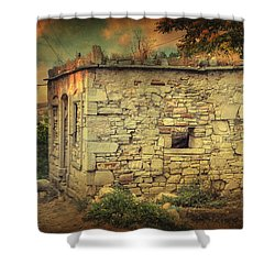 Tavern Shower Curtain by Taylan Apukovska