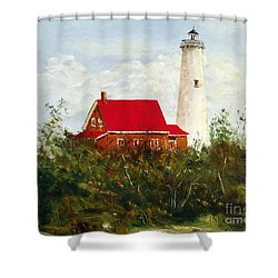 Tawas Shower Curtain by Lee Piper