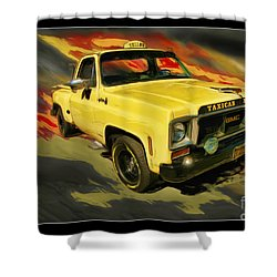 Taxicab Repair 1974 Gmc Shower Curtain by Blake Richards