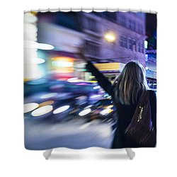 Taxi's Hunting In Manhattan Shower Curtain