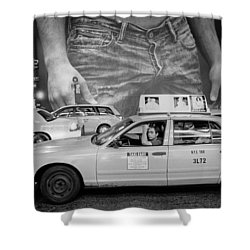 Taxis On Fifth Avenue Shower Curtain