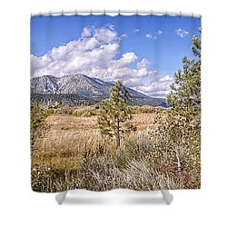 Shower Curtain featuring the photograph Taylor Creek Panorama by Jim Thompson