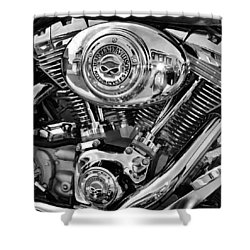 V-twin Black Shower Curtain