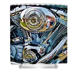 V-twin Blue Shower Curtain