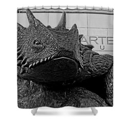 Tcu Horned Frog Black And White Shower Curtain