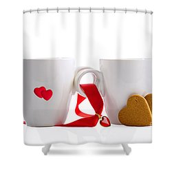 Tea And Gingerbread Shower Curtain