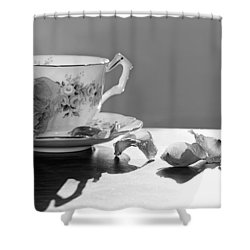Tea And Roses Still Life Shower Curtain by Lisa Knechtel