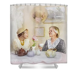 Tea And Talk Shower Curtain