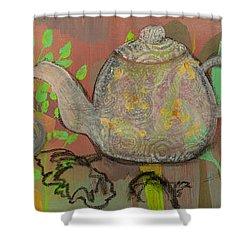 Tea Blossoms Shower Curtain by Robin Maria Pedrero