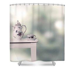 Tea Cup And Pot Shower Curtain by Joana Kruse
