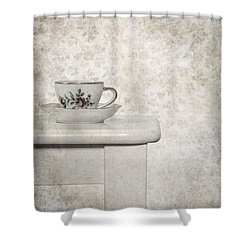 Tea Cup Shower Curtain by Joana Kruse