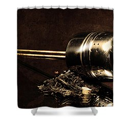 Tea Dipper Shower Curtain by Tommytechno Sweden