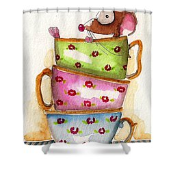 Tea For One Shower Curtain by Lucia Stewart