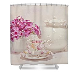 Tea For You Shower Curtain by Sandra Foster