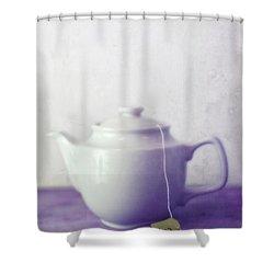 Tea Jug Shower Curtain by Priska Wettstein