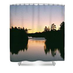 Tea Lake Sunset Shower Curtain by David Porteus