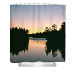 Tea Lake Sunset Shower Curtain