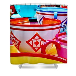 Shower Curtain featuring the photograph Tea Party by Benjamin Yeager