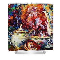Tea Time 2 Shower Curtain by Leonid Afremov