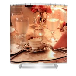 Tea Time Shower Curtain by Carol Groenen