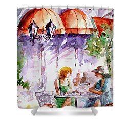 Shower Curtain featuring the painting Tea Time...  by Faruk Koksal
