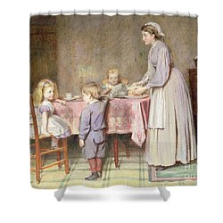 Tea Time Shower Curtain by George Goodwin Kilburne