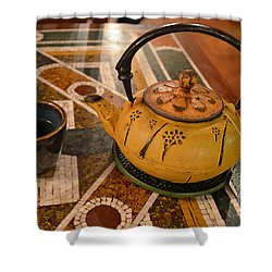 Shower Curtain featuring the photograph Tea Time In Asia by Robert Meanor