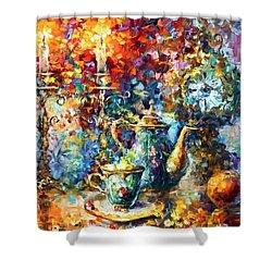 Tea Time Shower Curtain by Leonid Afremov