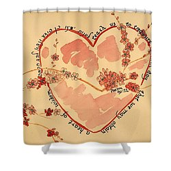 Shower Curtain featuring the painting Teach Us - Color by Linda Feinberg