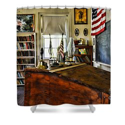 Teacher - Vintage Desk Shower Curtain