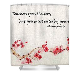 Teachers Open The Door Shower Curtain