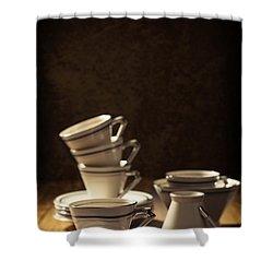 Teacups Shower Curtain by Amanda Elwell