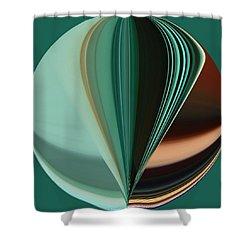 Teal Aqua Seven Duvet Size Shower Curtain