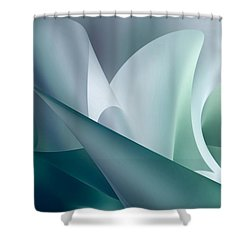 Teal Beam Shower Curtain