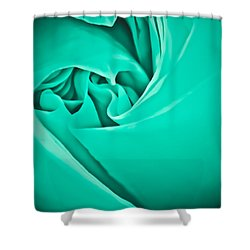 Shower Curtain featuring the photograph Teal Rose-duvet Cover by  Onyonet  Photo Studios