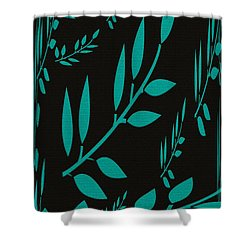 Teal Treasure Shower Curtain