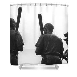 Teammates Shower Curtain by Joann Vitali
