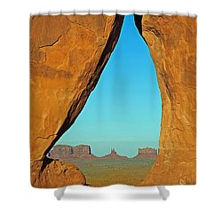 Tear Drop Arch Monument Valley Shower Curtain