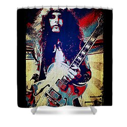 Ted Nugent - Red White And Blue Shower Curtain by Absinthe Art By Michelle LeAnn Scott
