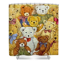 Ted Patch Shower Curtain by Ditz