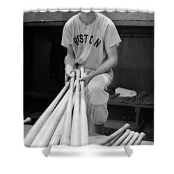 Ted Williams Shower Curtain
