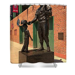 Ted Williams Shower Curtain by Paul Mangold