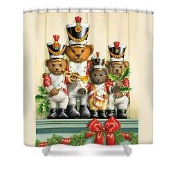Teddy Bear Band Shower Curtain