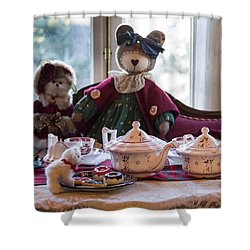 Teddy Bear Tea Party Shower Curtain
