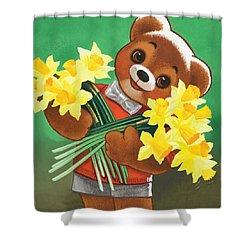 Teddy Bear Shower Curtain by William Francis Phillipps