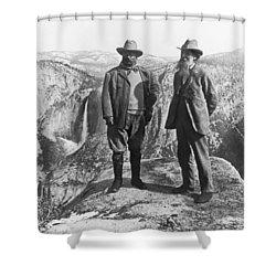 Teddy Roosevelt And John Muir Shower Curtain