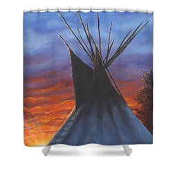 Teepee At Sunset Part 2 Shower Curtain