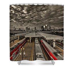 Tel Aviv Central Railway Station Shower Curtain by Ron Shoshani