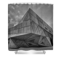 Shower Curtain featuring the photograph Tel Aviv Museum  by Ron Shoshani